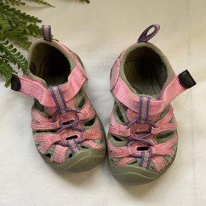 3/$40 Baby  pink Keen sandals